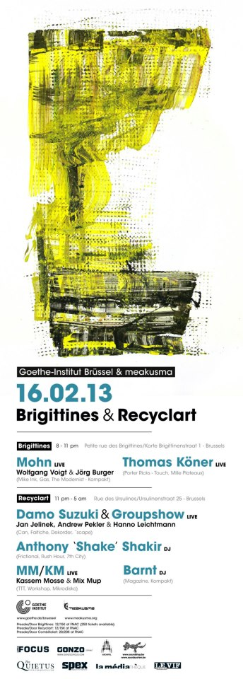 Goethe-Institut & meakusma at Brigittines & Recyclart