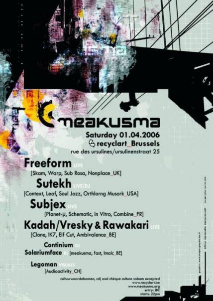 meakusma at Recyclart
