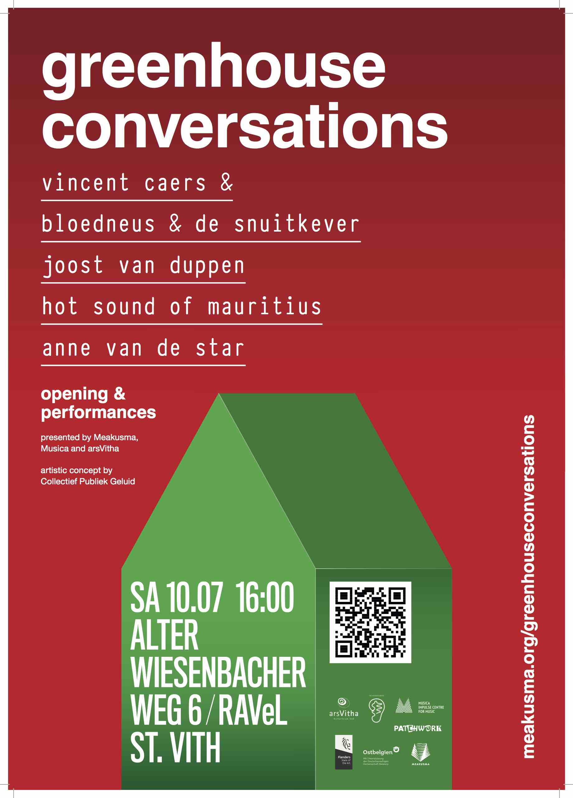 Greenhouse Conversations – Opening // Cancelled
